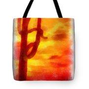 Desert Sunset Photo Art 01 Tote Bag