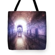 Deserted Prison Hallway Tote Bag