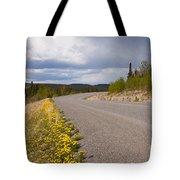Deserted Rural Highway Yukon Territory Canada Tote Bag