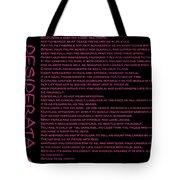 Desiderata 11 Tote Bag