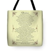 Desiderata Gold Bond Scrolled Tote Bag by Movie Poster Prints