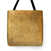 Desiderata Tote Bag by Kurt Van Wagner