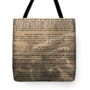 Desiderata Military Tote Bag