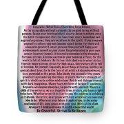 Desiderata On Abstract Heart Watercolor Tote Bag