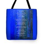 Desiderata On Blue Tote Bag