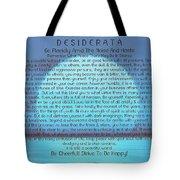 Desiderata On Blue Moon Sunset Tote Bag