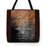 Desiderata On Gold Tote Bag