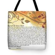 Desiderata On Golden Leaves Tote Bag