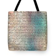 Desiderata On Grand Canyon Watercolor Tote Bag