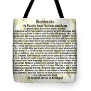 Desiderata On Leafy Watercolor Tote Bag