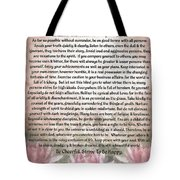 Desiderata On Lotus Watercolor Tote Bag