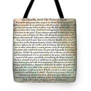 Desiderata On Mother Earth Watercolor Tote Bag