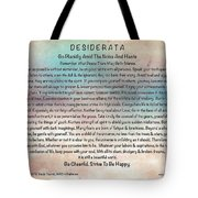 Desiderata On Pastel Watercolor Tote Bag