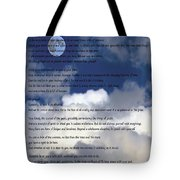 Desiderata On Sky Scene With Full Moon And Clouds Tote Bag
