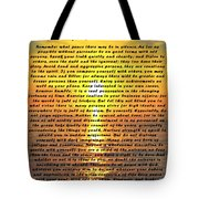 Desiderata Pismo Beach Golden Sunset Tote Bag