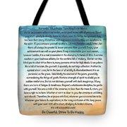 Desiderata Poem On Brighton Beach Watercolor Tote Bag