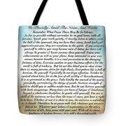 Desiderata Poem On Watercolor Tote Bag