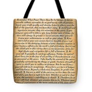 Desiderata Poster On Antique Embossed Wood Paper Tote Bag