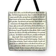 Desiderata Romanesque Tote Bag