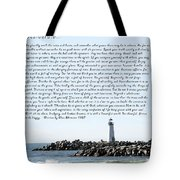 Desiderata Santa Cruz Lighthouse Tote Bag