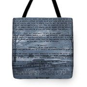 Desiderata Winter Scene Tote Bag