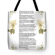 Desiderata With Art Tote Bag by Anne Norskog