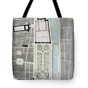 Design For Joining The Tuileries To The Louvre, 1808 Wc On Paper Tote Bag