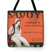 Design For The Front Cover Of 'the Savoy Complete In Three Volumes' Tote Bag