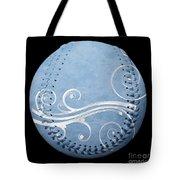 Designer Light Blue Baseball Square Tote Bag