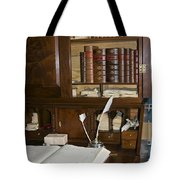 Desk With Quill Pens Tote Bag