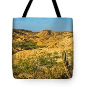 Desolate Desert Landscape Tote Bag