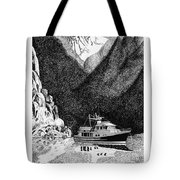 Anchored Safe Chatterbox Falls, British Columbia Inside Passage Tote Bag