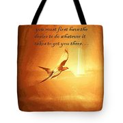 Destination And Desire Tote Bag