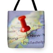 Destination To New York Tote Bag