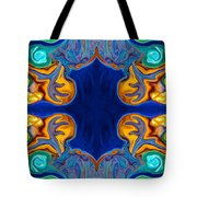 Destiny Unfolding Into An Abstract Pattern Tote Bag