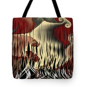 Destruction Of The Earth Abstract Tote Bag