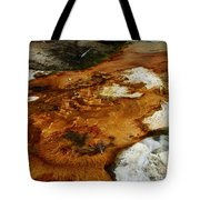 Detail Mammoth Springs Yellowstone Tote Bag