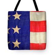 Detail Of A Civil War Flag In Drummer Tote Bag