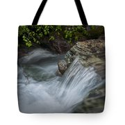 Detail Of A Small Water Fall In A Stream Tote Bag