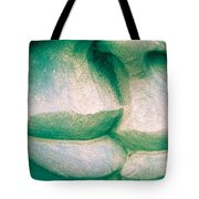 Detail Of Human Sculpture With Lips Ready To Kiss Tote Bag