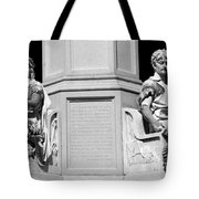Detail Of Monument Statues - Bw Tote Bag