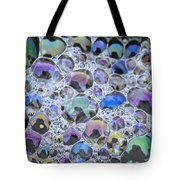 Detail Of Rainbow-colored Bubbles Tote Bag