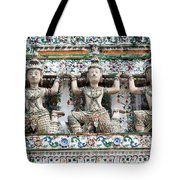 Detail Of Temple, Thailand Tote Bag
