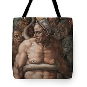 Detail Of The Last Judgment Tote Bag by Michelangelo