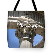 Detailed View Of Corinthian Order Column Tote Bag
