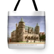Detroit - The Museum Of Art - Jefferson Avenue At Hastings Street - 1905 Tote Bag