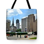 Detroit As Seen From Comerica Tote Bag