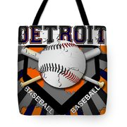 Detroit Baseball  Tote Bag by David G Paul
