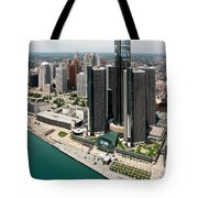 Detroit International Riverfront Tote Bag