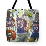 Detroit Pistons Bad Boys  Tote Bag